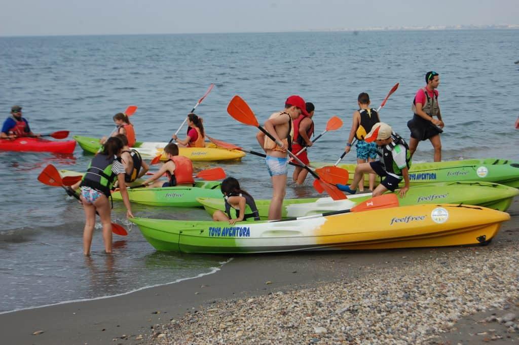kayak para niños