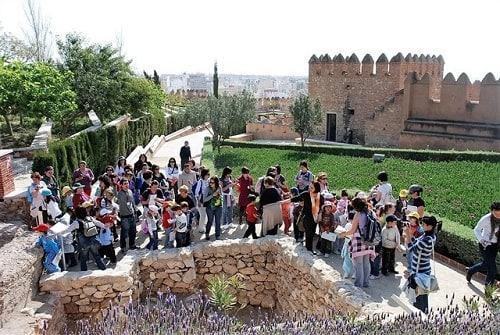 Alcazaba de Almería con niños